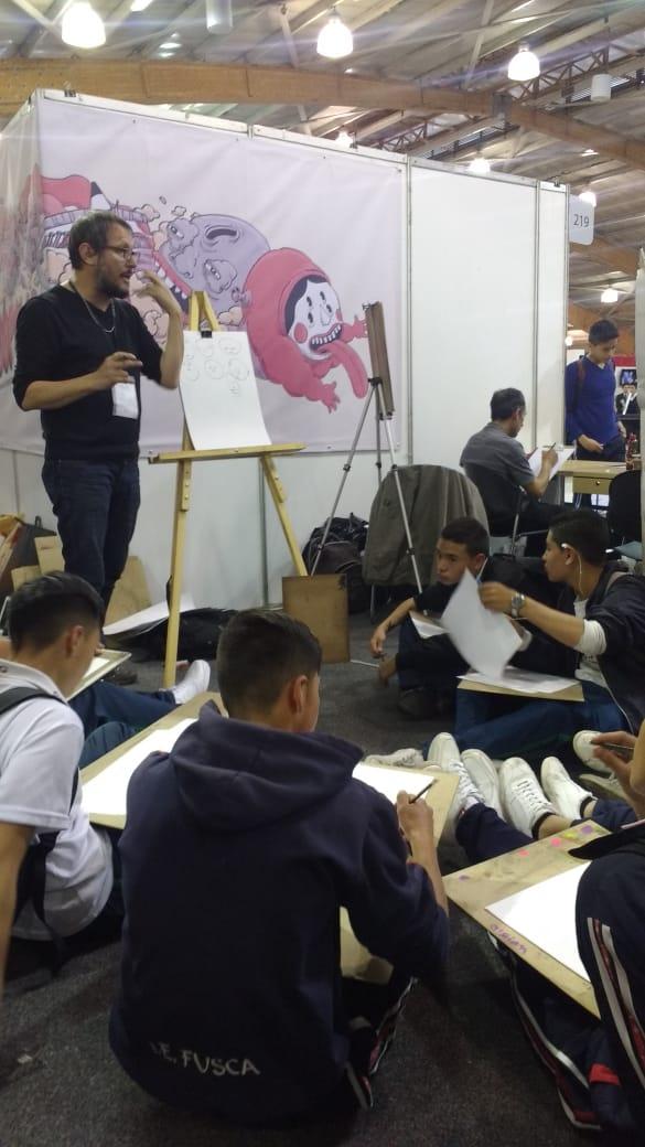 LABORATORIO DE DIBUJO PARA ESTUDIANTES DIRIGIDO POR EL ARTISTA MARCO ORDÓÑEZ