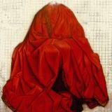 Una jaula fue a buscar un pájaro (1997). Galería Santa Fe. Instalación. Detalle: Virgen