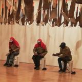 Fabio Melecio Palacios, «Proyecto los BMR (Bamba, Martillo y Refilón)», exposición: Tierra de por medio, Museo de Arte Miguel Urrutia, 2019.